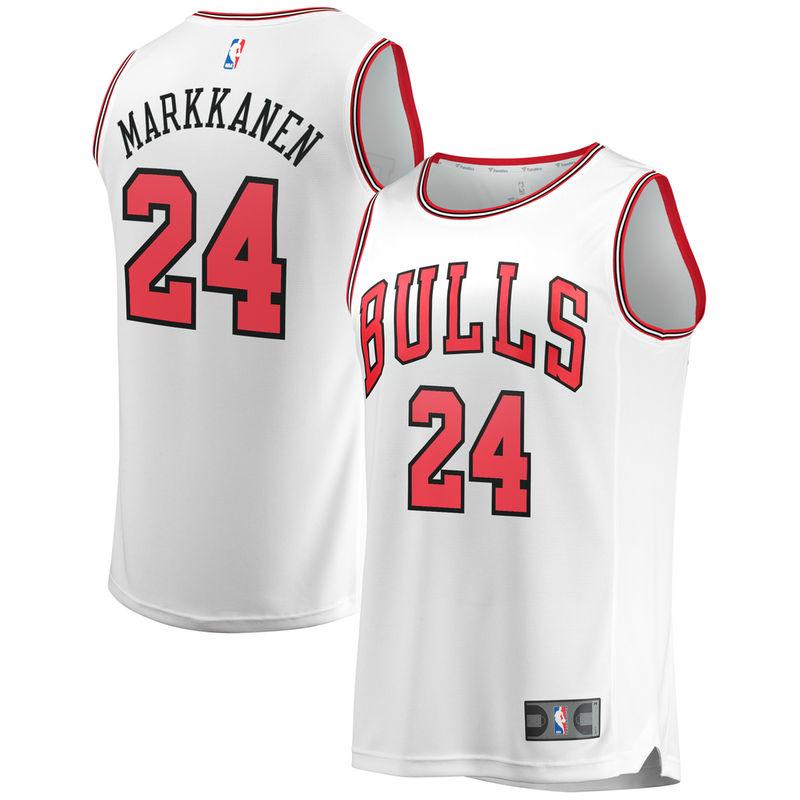 787f5fbee Lauri Markkanen Chicago Bulls Fanatics Branded Fast Break Replica Jersey  White - Association Edition