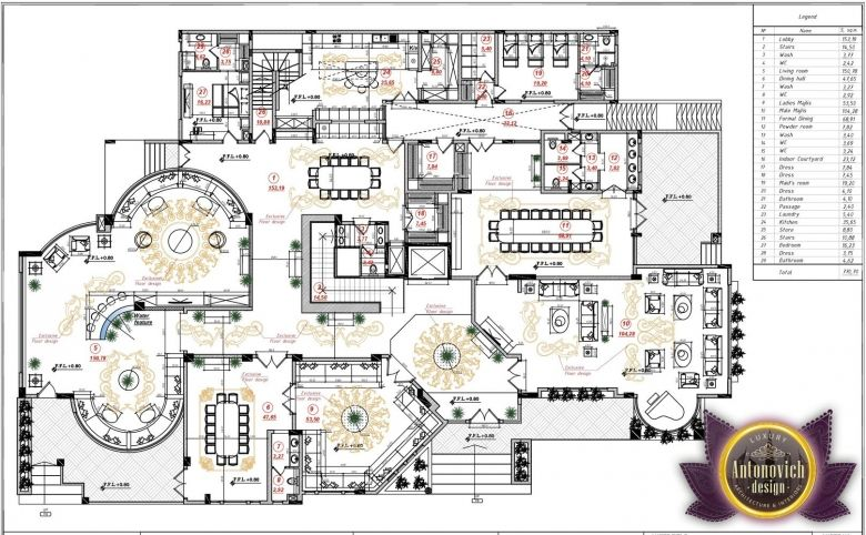 Luxury House Plan Villa 17 By Antonovich Designs Luxury House Plans House Plans Luxury Floor Plans