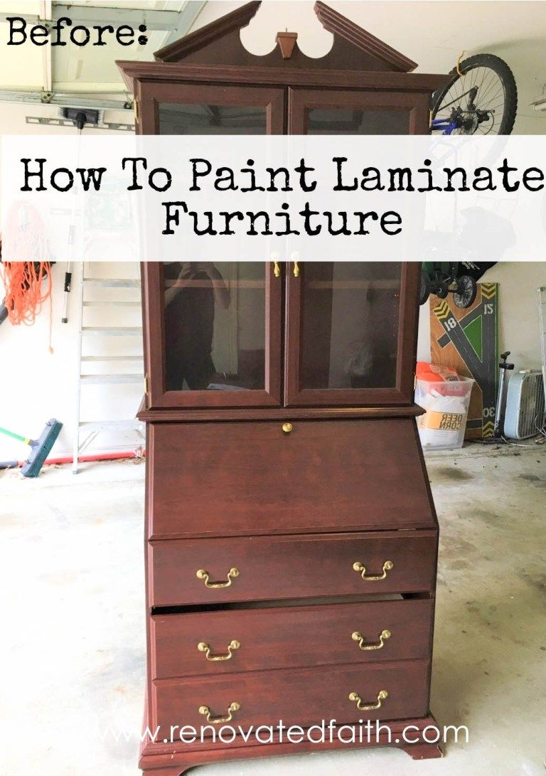 How To Paint Laminate Furniture So It Looks Like Painted Wood is part of Refinishing furniture Laminate - Knowing how to refinish laminate furniture gives you so many more options when you are on the hunt for a new project piece!