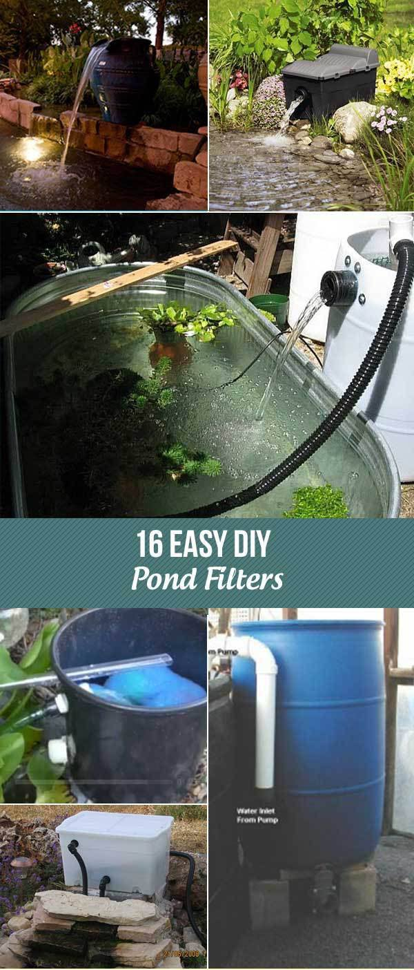 14 Diy Pond Filter Diy Pond Pond Filters Diy Pond Waterfall