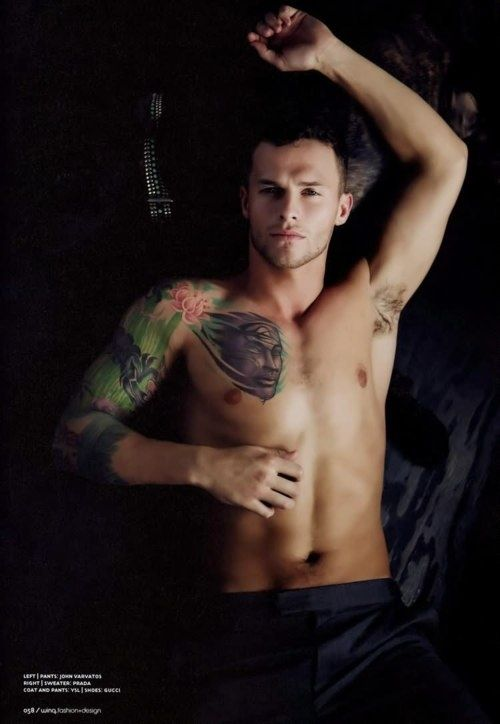 Nude sexy tattoo guy