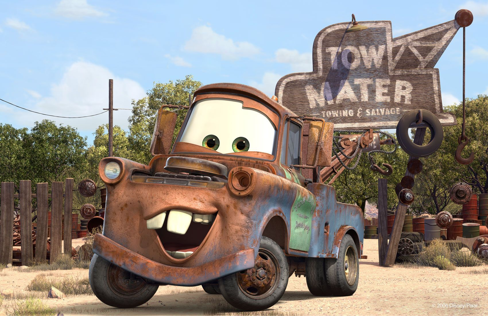 Tow Mater With Images Disney Cars Nursery Cars Movie
