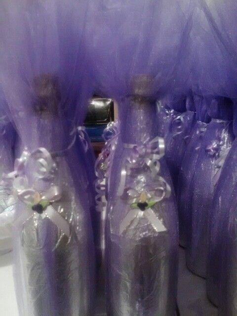 De Mesa De Centros Vino 15 Anos Con Para Botellas