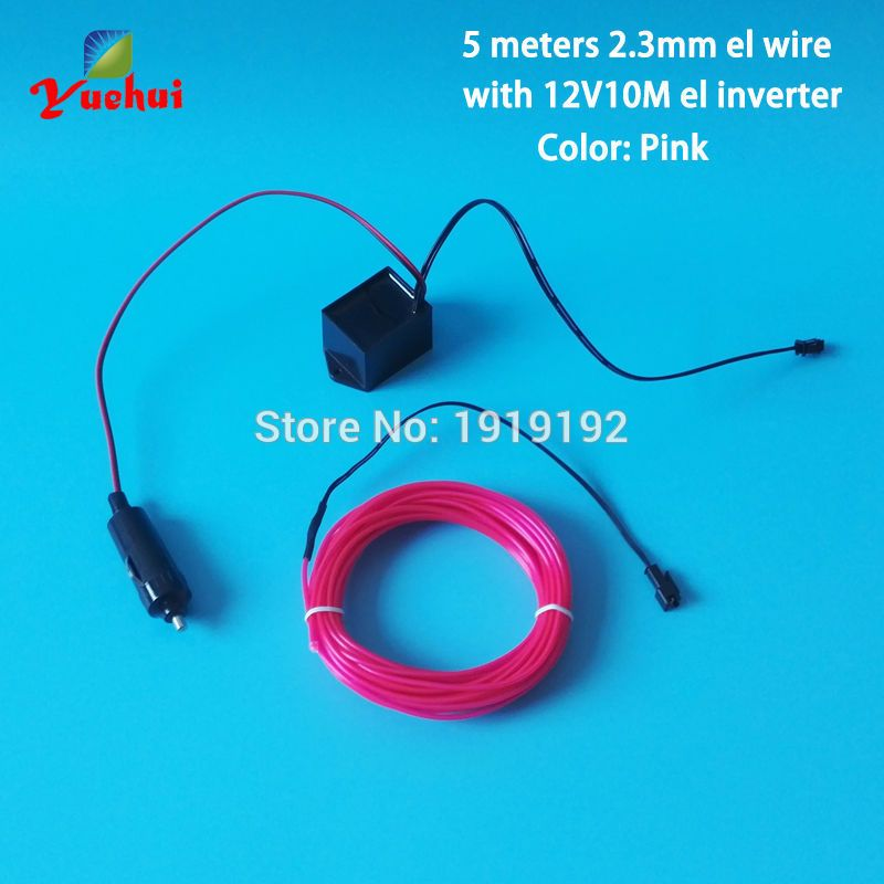 5Meters DC-12V 2.3mm EL Wire Cars motorcycle bike Party Decoration ...