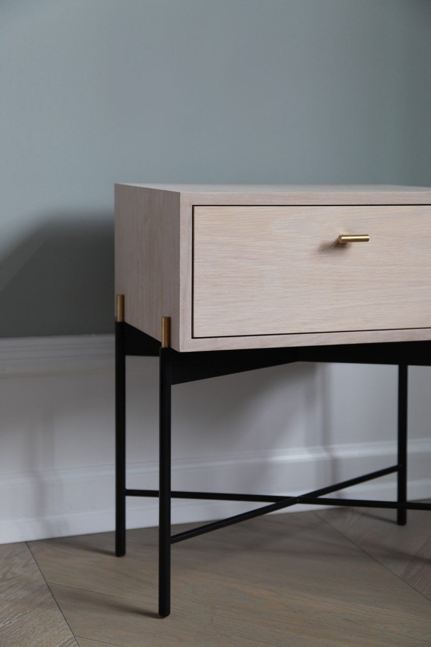 German designer theresa arns has created a set of steel framed furniture that references classic art deco shapes