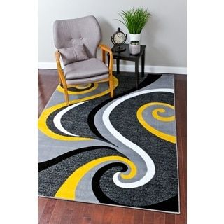 Shop for Persian Rugs Modern Trendz Yellow Rug (7'10 x 10'6). Get free shipping at Overstock.com - Your Online Home Decor Outlet Store! Get 5% in rewards with Club O! - 18656012