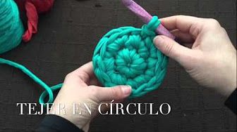 COMO TEJER UN CESTO CROCHET - YouTube