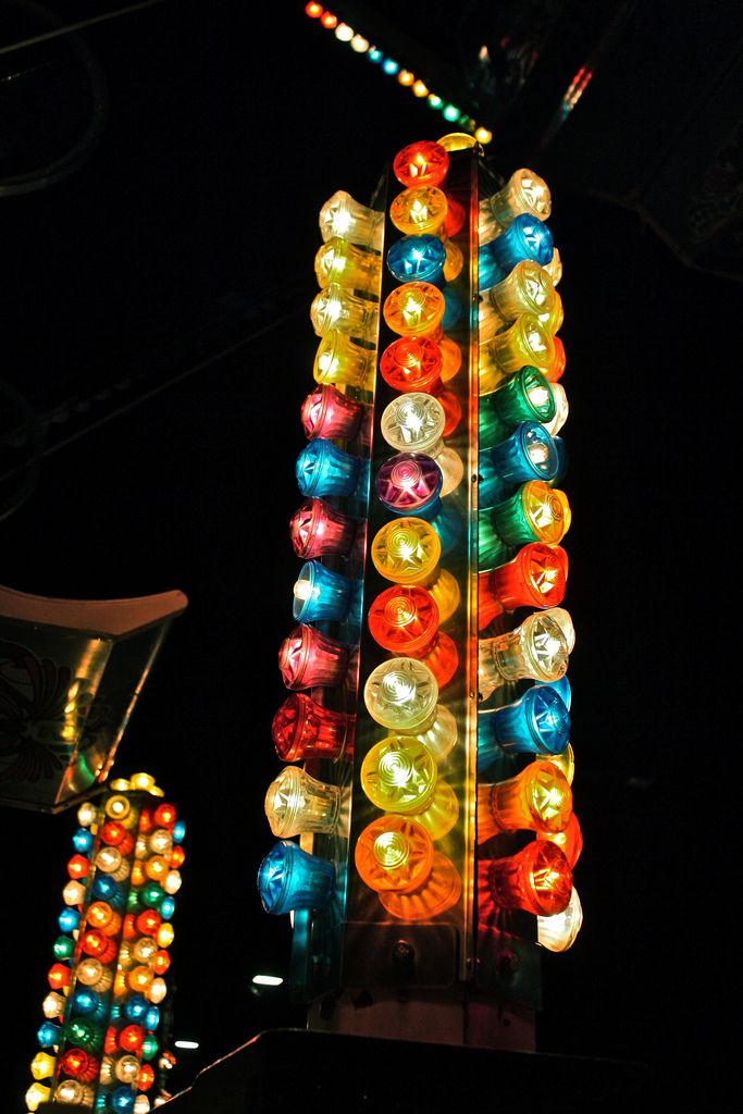 carnival lights at night maybe foraine fete forraine