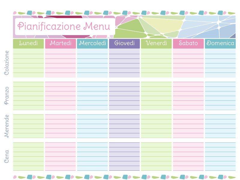 Men mensile men mensile agenda settimanale stampabile for Planner casa gratis