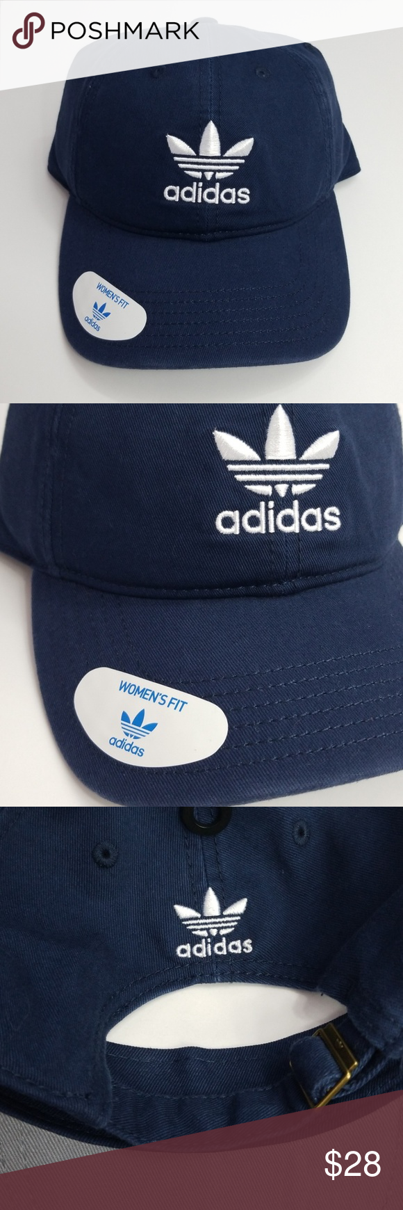 Adidas Originals Womens Fit Hat Adjustable Fit Hat Womens Fit New With Tags  Color Navy Blue And White adidas Accessories Hats 72250aa75