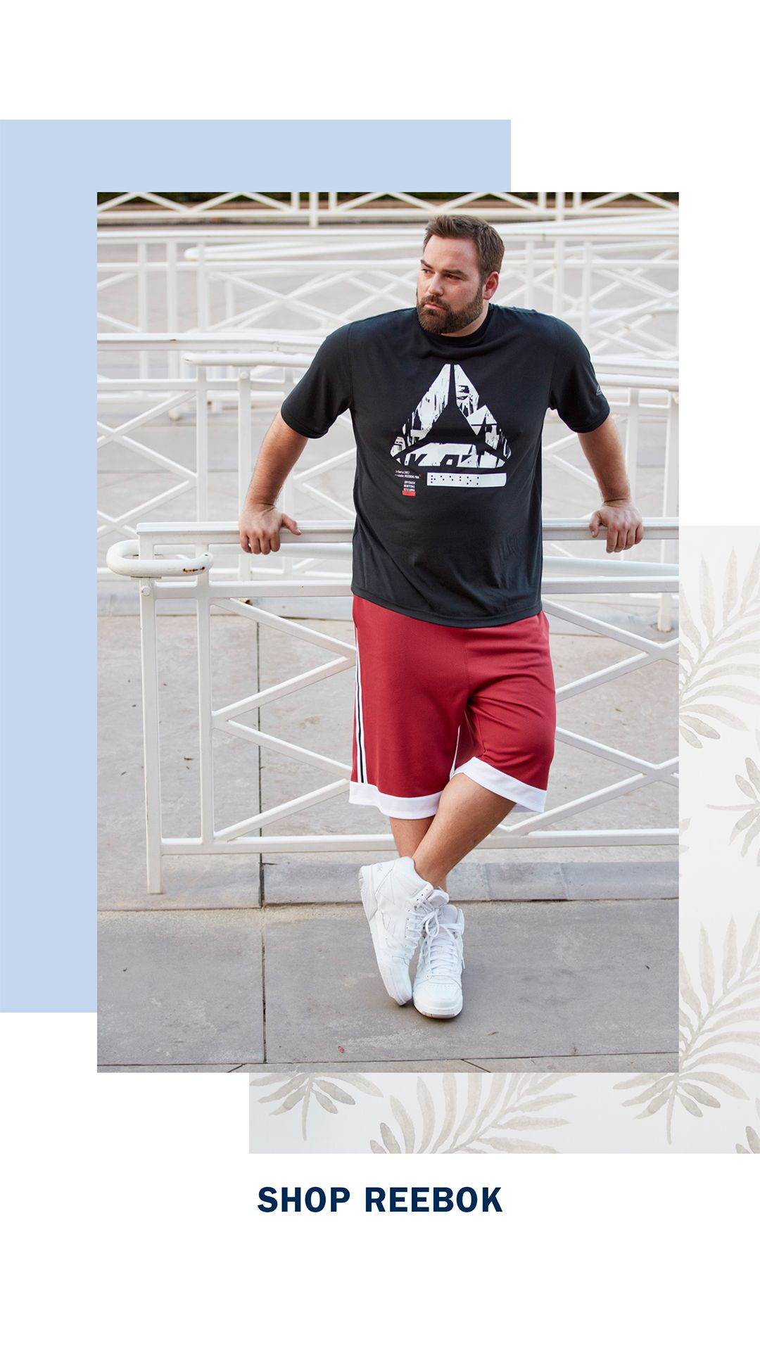 DXL Reebok Outfit for Big and Tall Guys