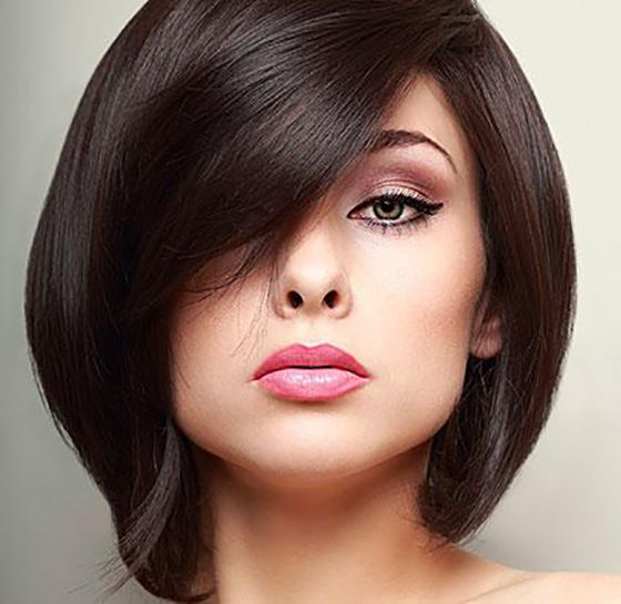 25 Hairstyles To Slim Down Round Faces Beauty Hair Hair Styles