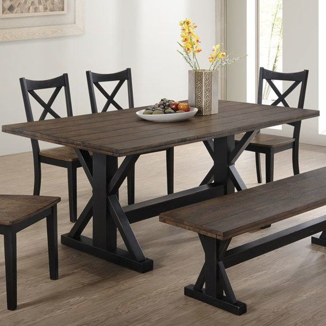 Landrum Counter Height Solid Wood Dining Table Estanteria Hierro