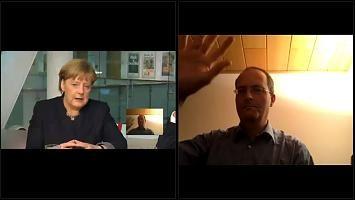 : Merkel-Kritiker treibt Kanzlerin in die Enge - die reagiert genervt