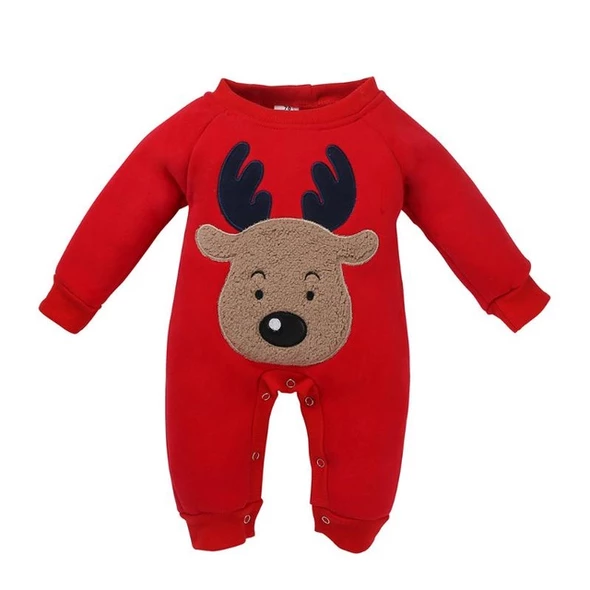 Details about  /Long Sleeve Christmas Clothes Baby Rompers Boy Girl Kids Romper Hat Cap Set