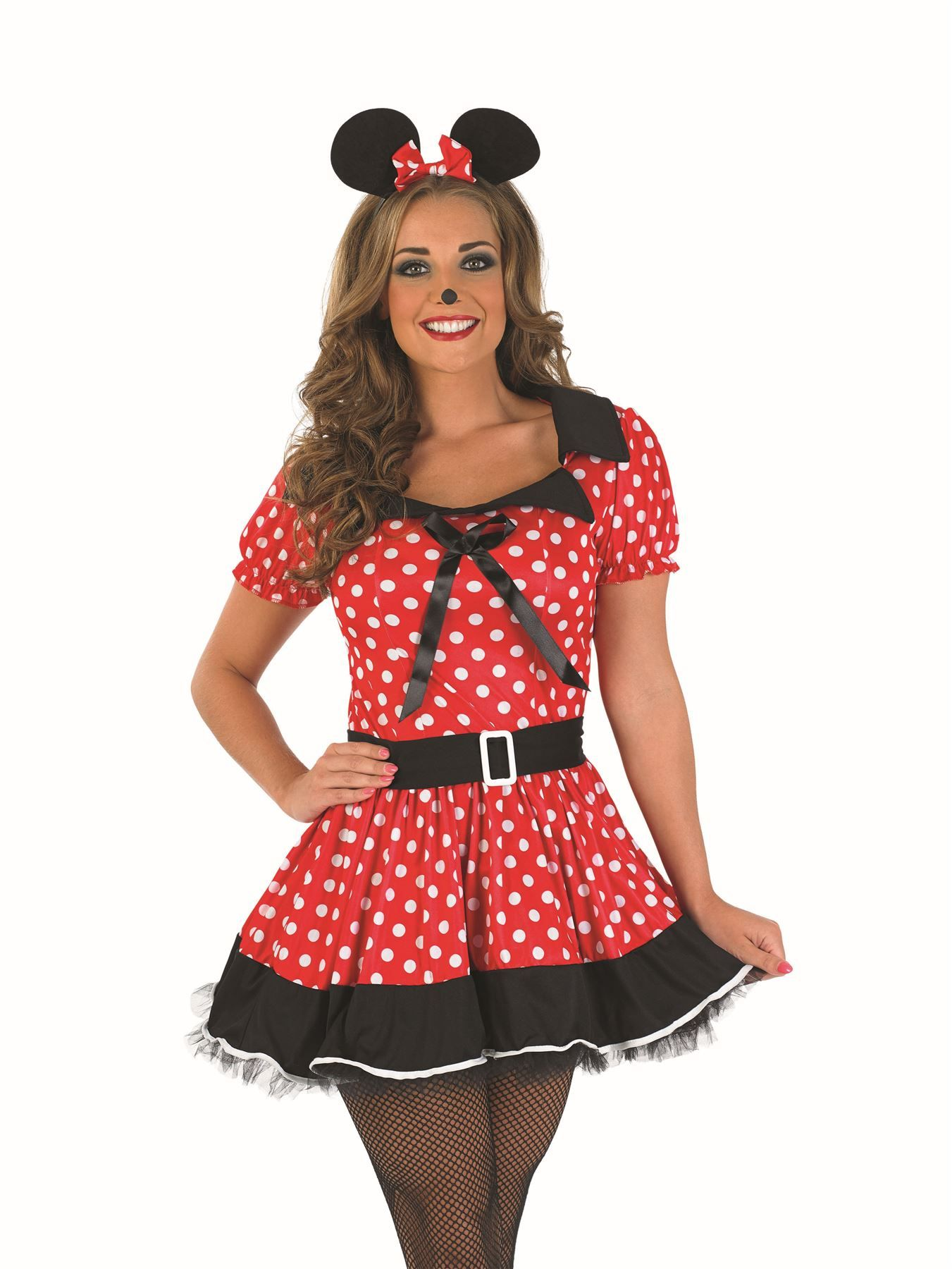 Womens Sexy Naughty Micky Mini Minnie Mouse Fancy Dress Costume Hen ...