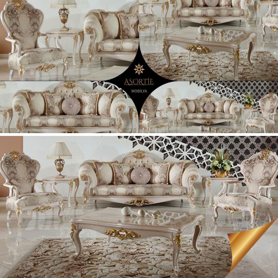 Narin Bir Tarza Sahip Olan Elif Klasik Koltuk Takimi Dogal Ahsaptan El Isciligi Ile Uretilmistir Elif Classic Sofa Luxury Sofa Design Sofa Design Luxury Sofa