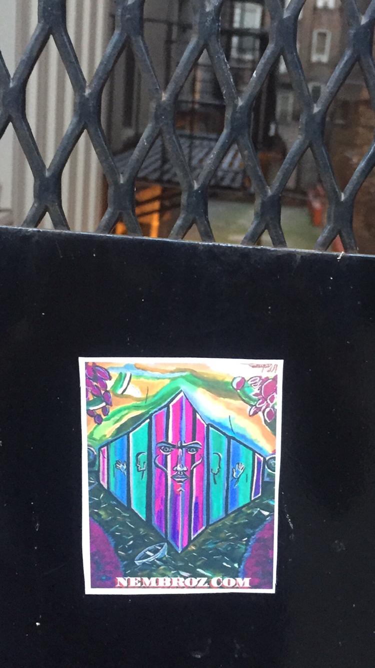 sticker tagging nyc nembroz artwork amazing art pinterest