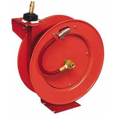 Lincoln Industrial 1 2 In X 50 Ft Retractable Air Hose Reel 83754 New Air Hose Reel Air Hose Retractable Hose