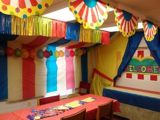 VBS Fun Fair craft room   Vbs   Carnival party games, Fun