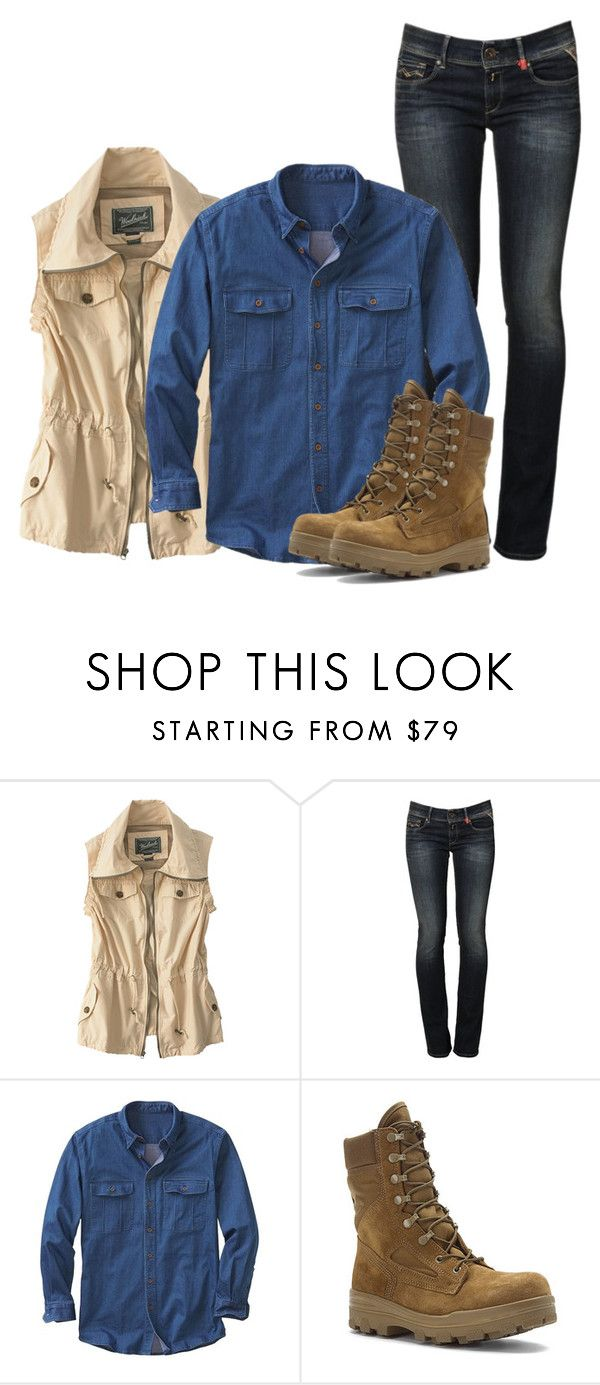 """Eugene Porter"" by inspiredoutfitsfandoms on Polyvore featuring mode, Woolrich, Replay, TravelSmith et Bates"