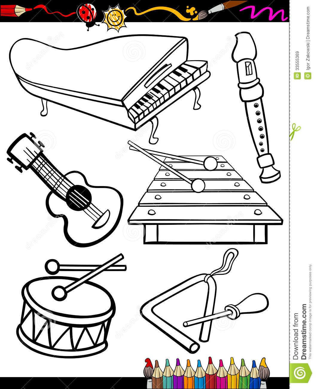 Musical Instruments Coloring Pages Music Coloring Music Coloring Sheets Musical Instruments Drawing