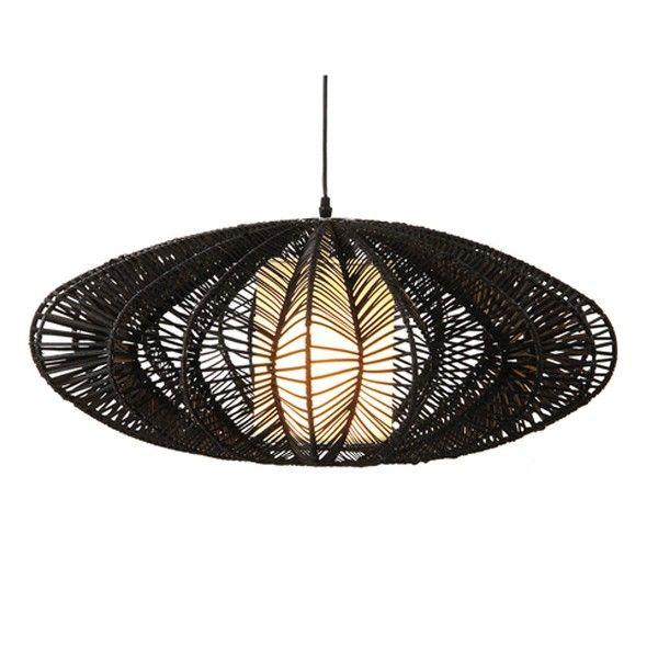 Lámpara Fly suspensión de ratán en color negro
