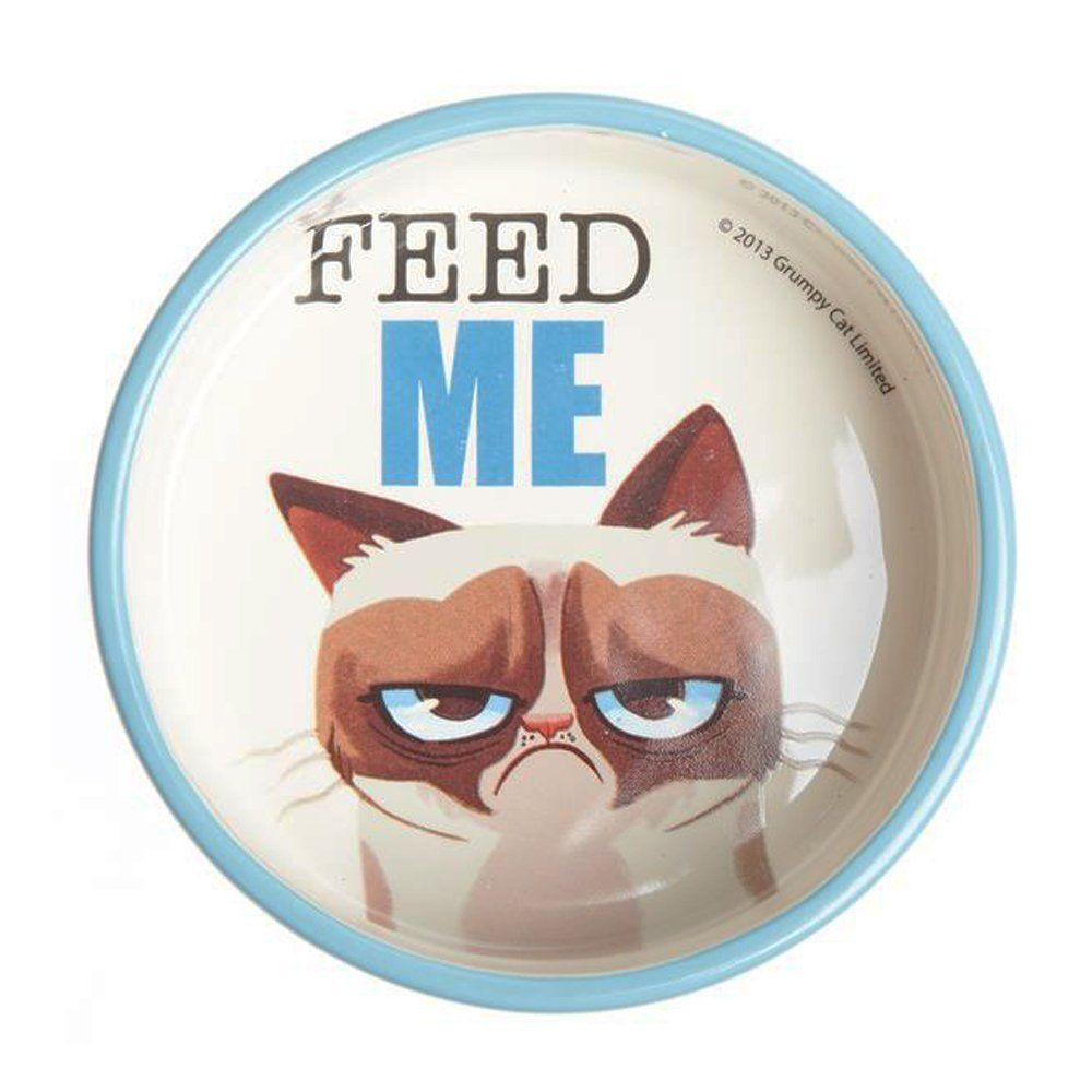 Grumpy Cat Food Bowl Feed Me Awesome Cat Product Click The Image Cat Items Cat Food Bowl Grumpy Cat Cat Food