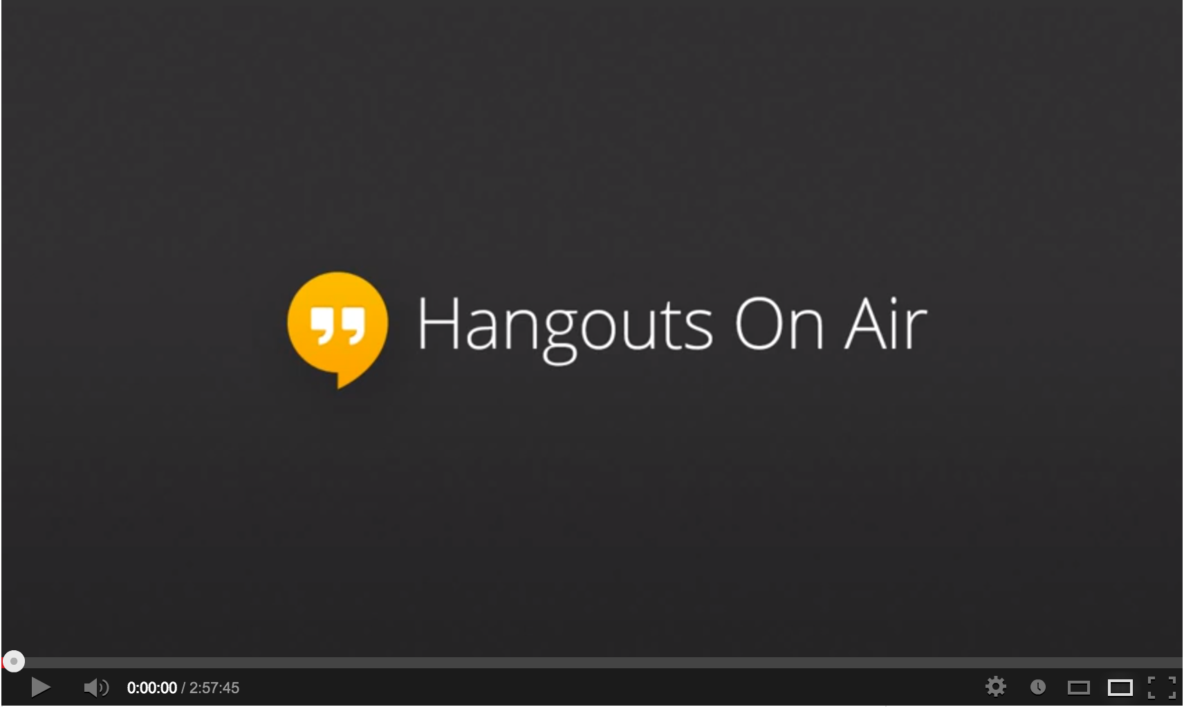 Watch Live. You can watch here our Live Hangouts on Sunday