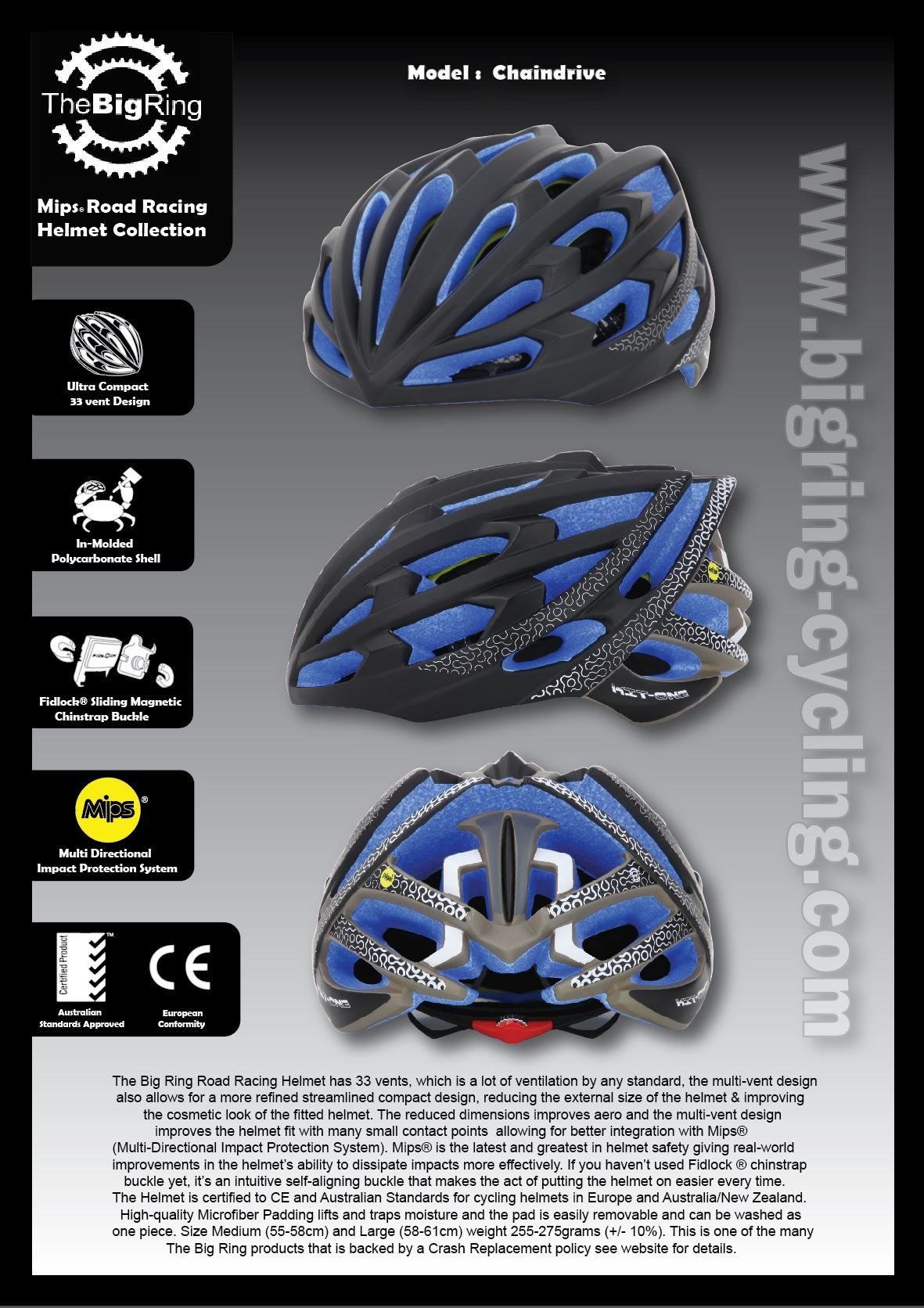 The Big Ring Mips Road Racing Helmet Has 33 Vents Lots Of