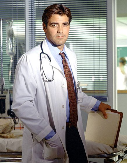 Classic Clooney! Arguably one of TV's sexiest docs, Clooney portrayed Dr. Doug Ross on the long-running NBC drama from 1994 to 2000. Check out our complete list of smoking hot TV doctors!