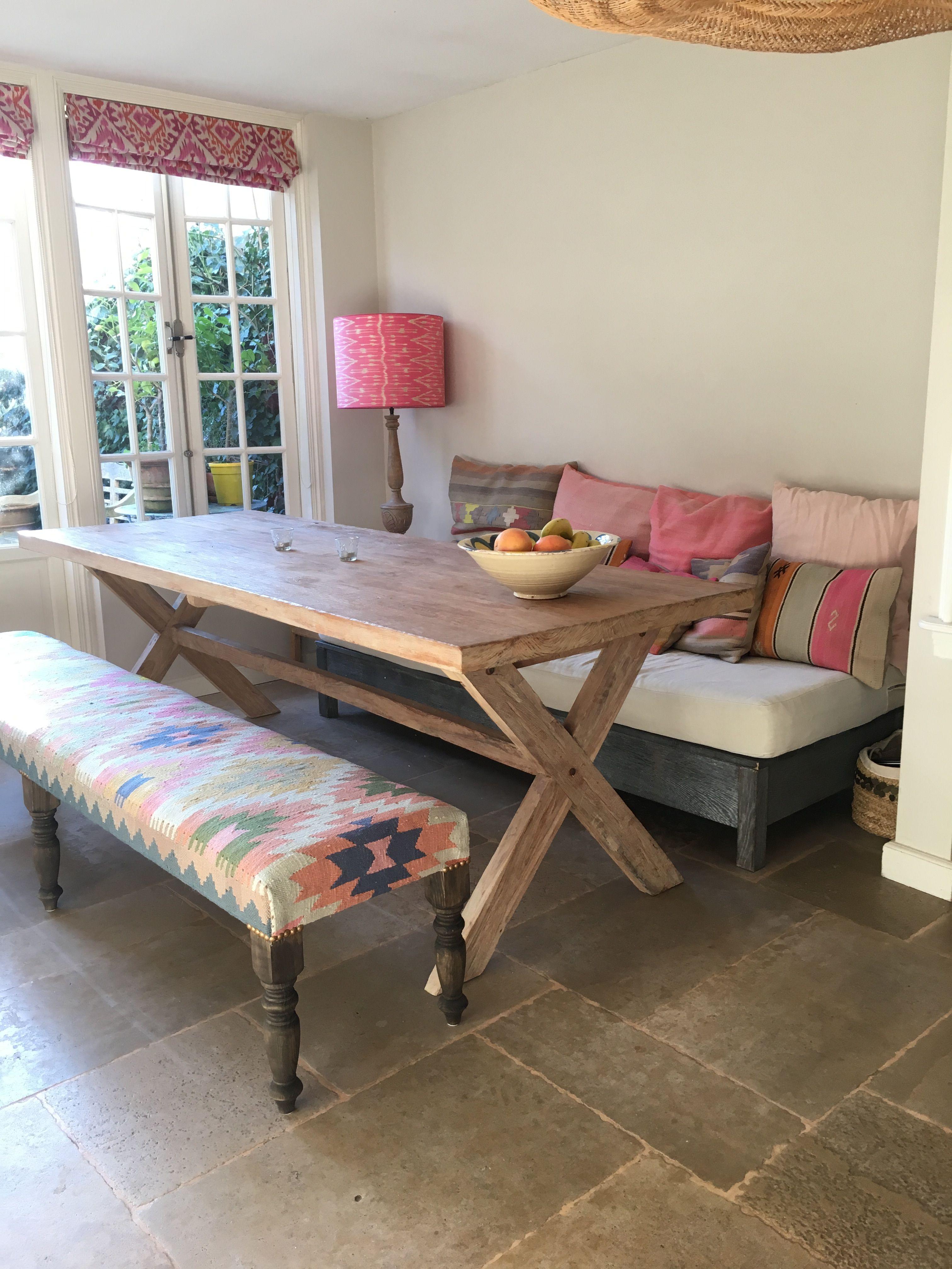 Kitchen With Unique Kilim Bench Project Den Haag By La Vie Boh Me  # Muebles Den Haag