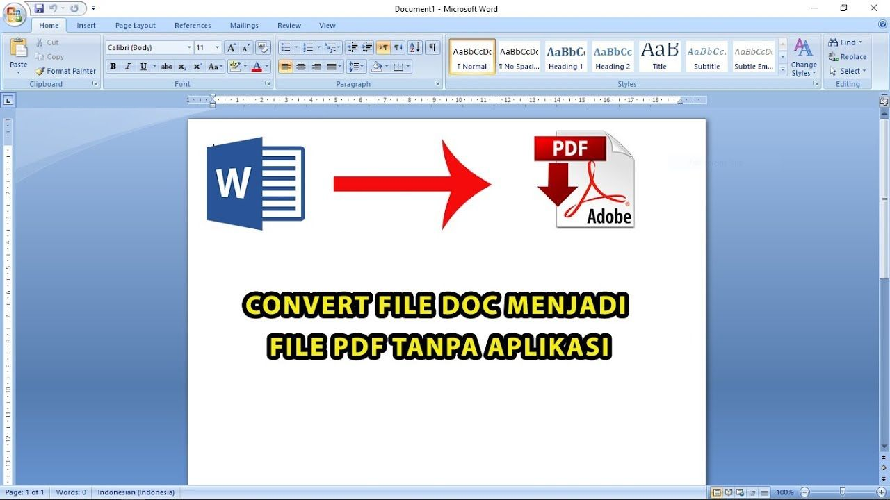 How To Convert Document Word File To Pdf File Microsoft Website
