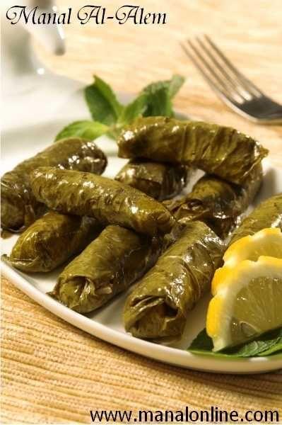 Stuffed Vine Leaves ورق العنب بالزيت Middle Eastern Recipes Mediterranean Recipes Lebanese Recipes