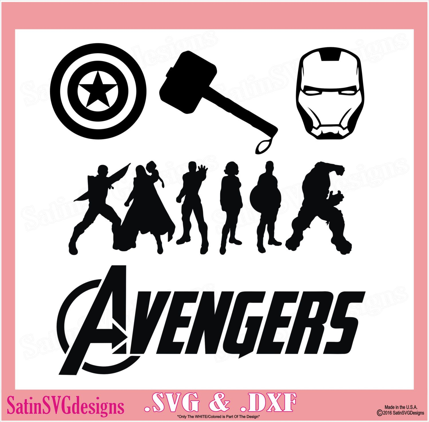 Avengers Superheros Design Kit Files Use Your Silhouette