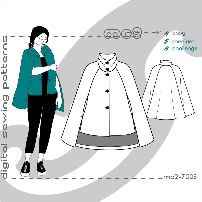 Maternity plus size suitable cropped front cape coat digital pdf maternity plus size suitable cropped front cape coat digital pdf sewing patterns for women jeuxipadfo Choice Image