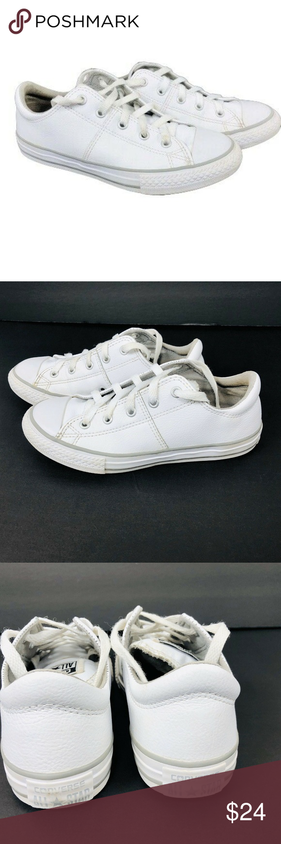 Converse Junior Kids All Leather White