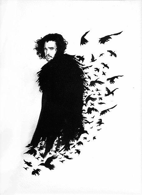 Jon Snow Fan Art Game Of Thrones By Sand Whale Imagem De Tela
