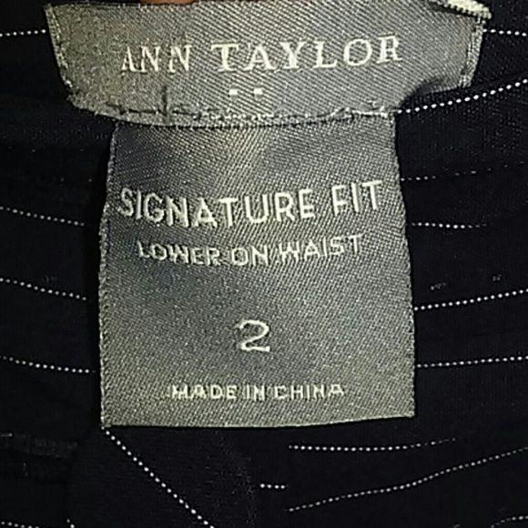 Ann Taylor Signature Slacks White pin stripe on Navy Ann Taylor Pants Trousers
