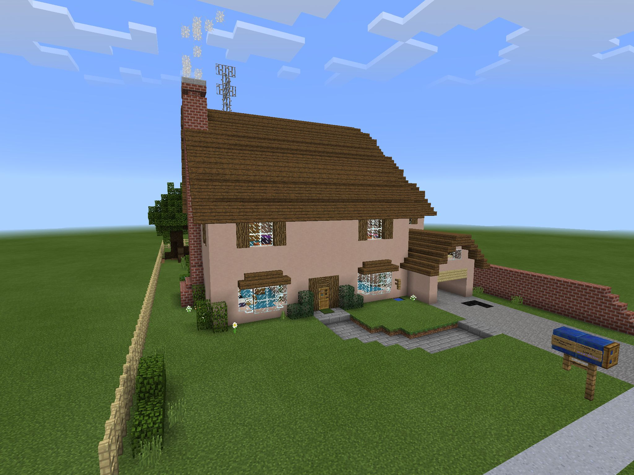 Minecraft: how to build a easy small modern house tutorial [#5.