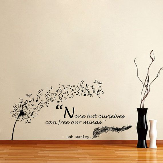 Housewares Wall Vinyl Decal Quote Bob Marley None but Ourselves Can ...