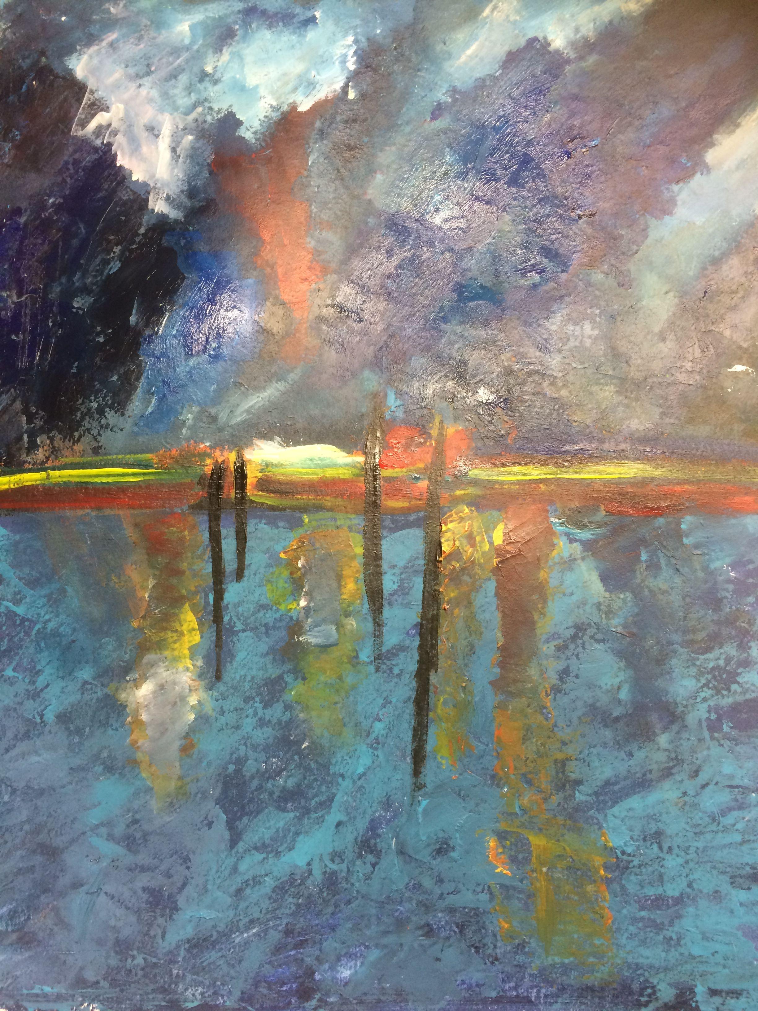 The sea, acryl