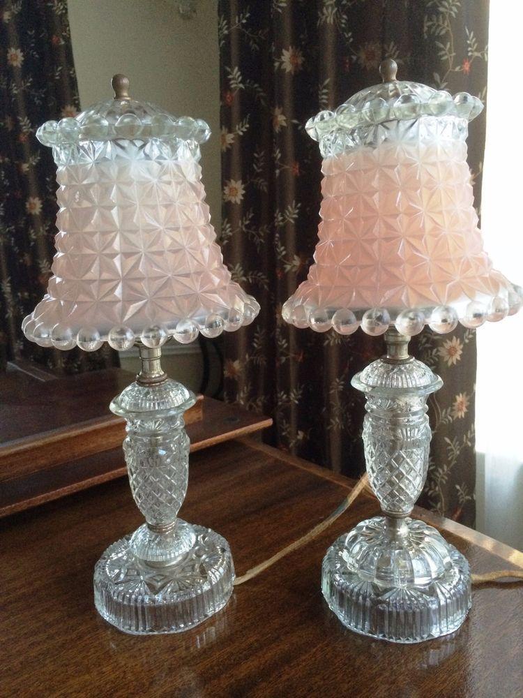 Antique Vintage Pink Satin Glass, Vintage Pink Satin Glass Lamp