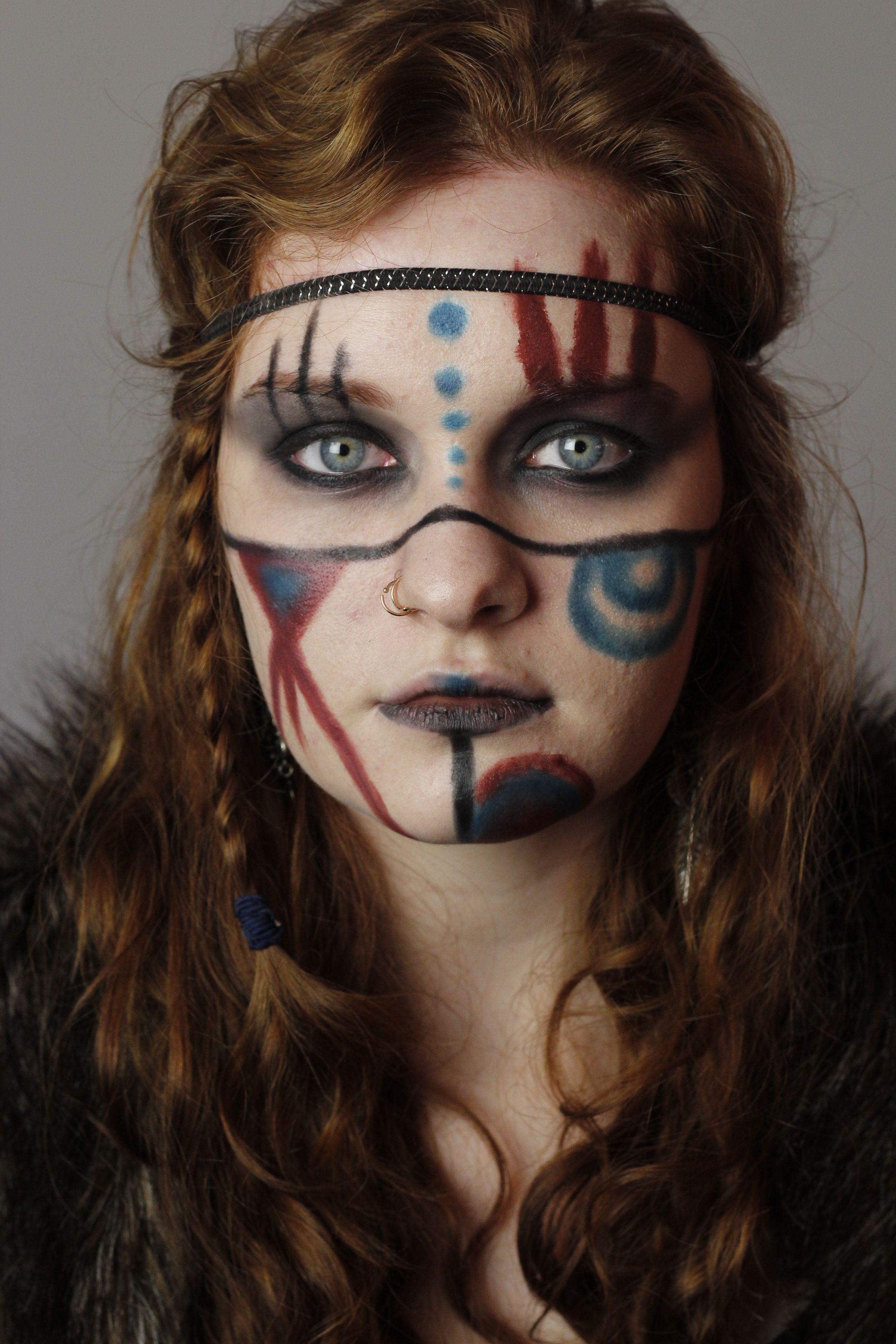 Ethnic makeup, nordic warrior princess