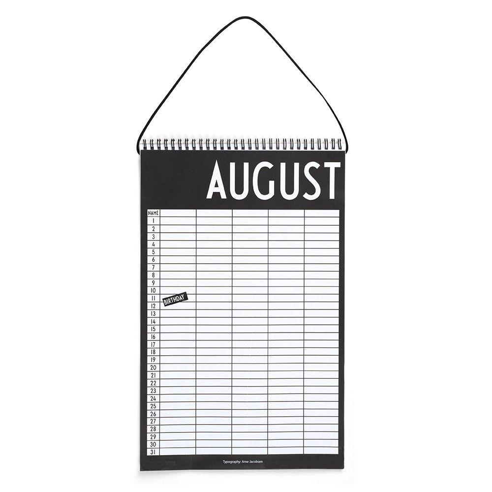 Monthly Planner Kalender fra Design Letters - Fri Fragt ⎢ Decorate Shop