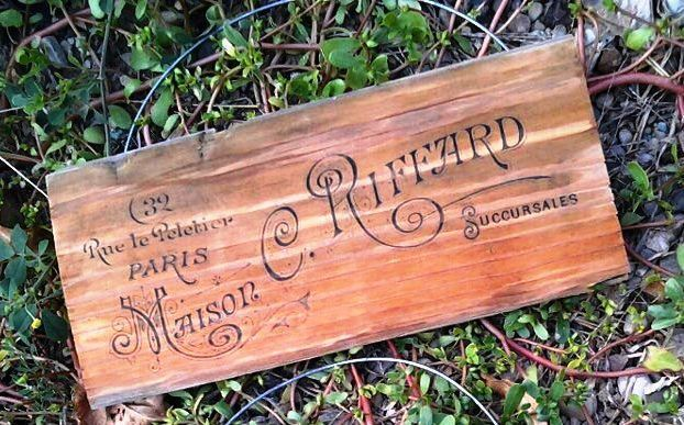 French Advertising Sign-Recycled Barn Wood Sign- Free Shipping US Only. $20.00, via Etsy.