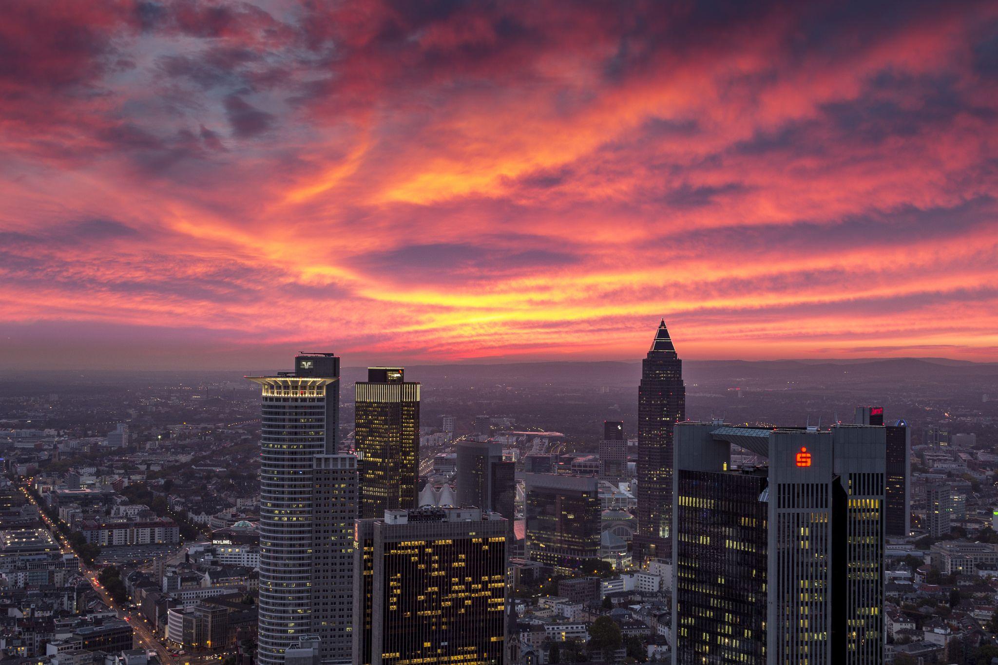 Sunset in Frankfurt [2048x1365] Frankfurt, 4k wallpaper