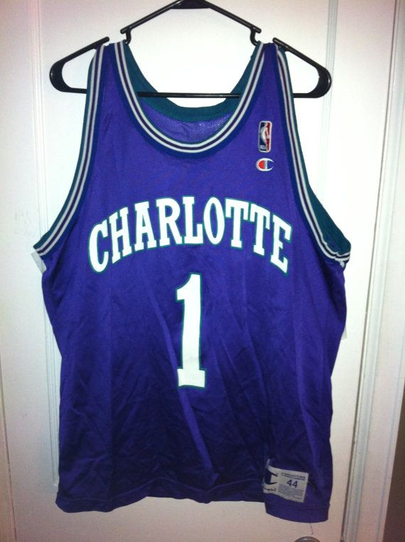 c685f0760 Charlotte Hornets Muggsy Bogues Purple Jersey 44 by BCallyVintage