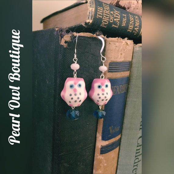 Pink Hoot by PearlOwlBoutique on Etsy