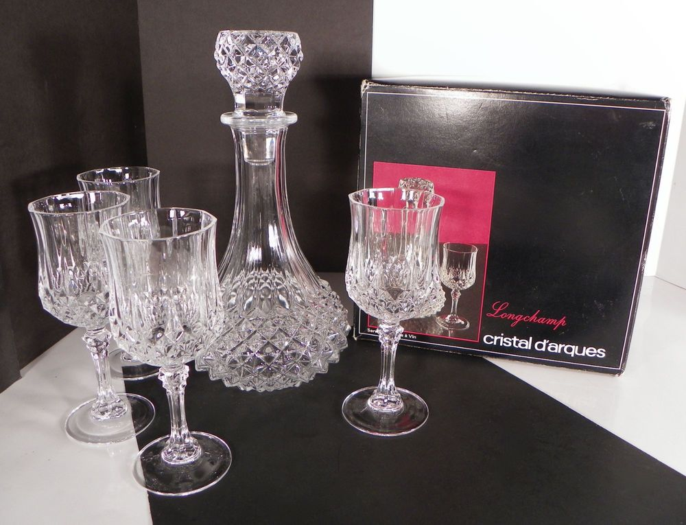 Cristal D Arques Longchamp Crystal Wine Boxed Set